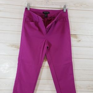 White House Black Market Purple Slim Ankle Pants